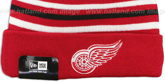 Red Wings 'STRIPEOUT' Knit Beanie Hat by New Era