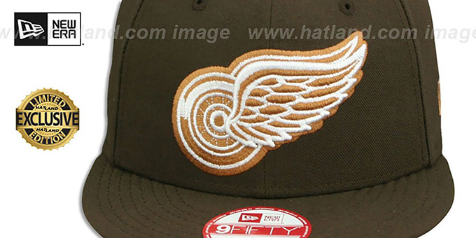 Red Wings 'TEAM-BASIC SNAPBACK' Brown-Wheat Hat by New Era