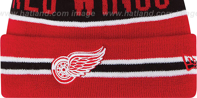 Red Wings 'THE-COACH' Red Knit Beanie Hat by New Era