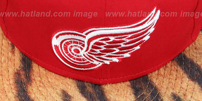 Red Wings 'TIGER ANIMALISTIC-FUR VIZA STRAPBACK' Hat by New Era