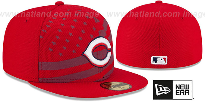 Reds '2015 JULY 4TH STARS N STRIPES' Hat by New Era