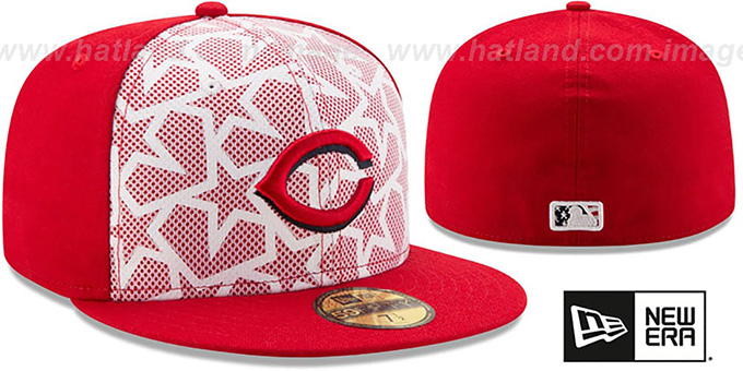 Reds '2016 JULY 4TH STARS N STRIPES' Fitted Hat by New Era