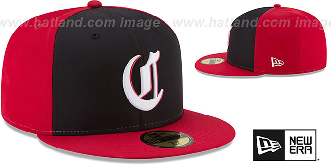 Reds '2018 PROLIGHT-BP' ROAD Black-Red Fitted Hat by New Era