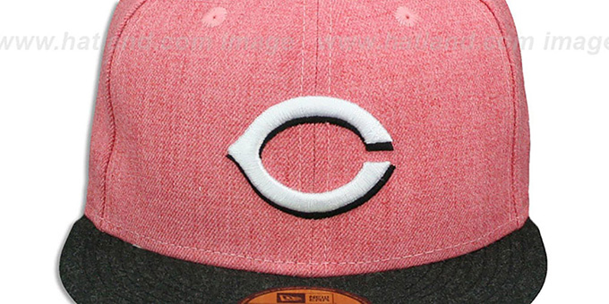Reds '2T-HEATHER ACTION' Red-Charcoal Fitted Hat by New Era