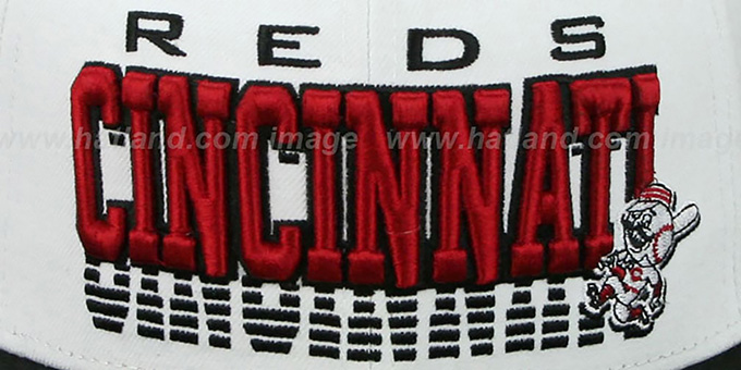 Reds 'DISSOLVER' White-Black Fitted Hat by New Era
