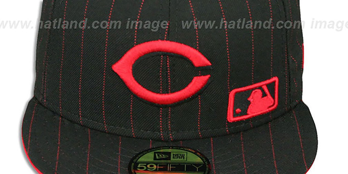 Reds 'FABULOUS' Black-Red Fitted Hat by New Era