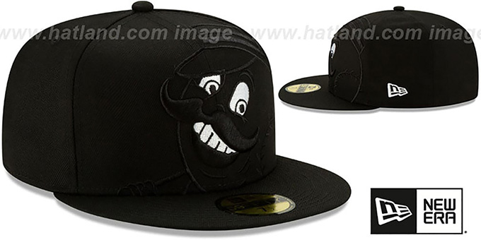 Reds 'LOGO ELEMENTS' Black-White Fitted Hat by New Era
