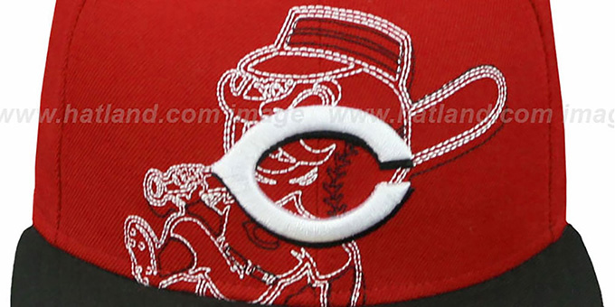 Reds 'NEW MIXIN' Red-Black Fitted Hat by New Era