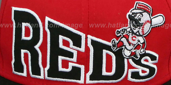 Reds 'STOKED SNAPBACK' Red-Black Hat by New Era