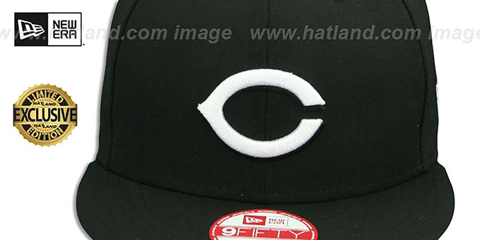 Reds 'TEAM-BASIC SNAPBACK' Black-White Hat by New Era