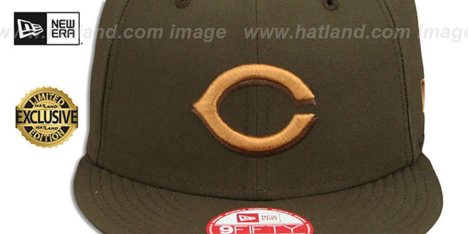 Reds 'TEAM-BASIC SNAPBACK' Brown-Wheat Hat by New Era