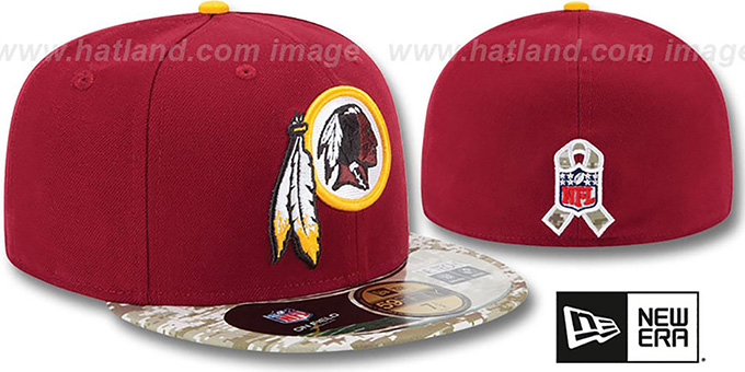 Redskins '2014 SALUTE-TO-SERVICE' Burgundy-Desert Fitted Hat by New Era