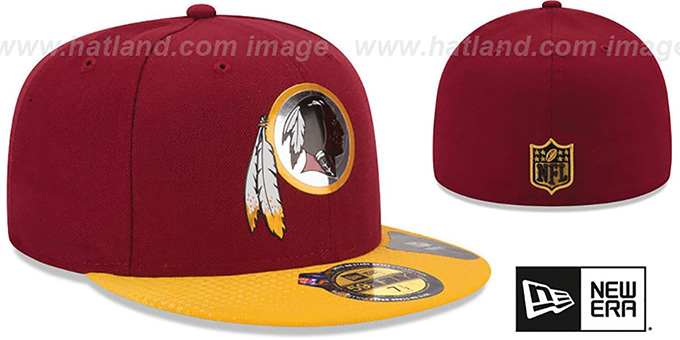 Redskins '2015 NFL DRAFT' Burgundy-Gold Fitted Hat by New Era