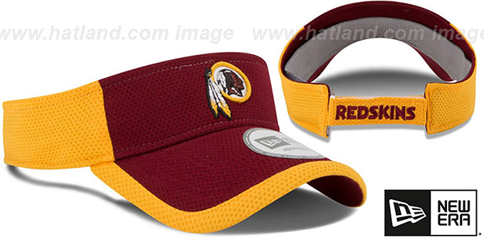 ... Redskins  2015 NFL TRAINING VISOR  Burgundy-Gold by New Era ... fee27baf00d