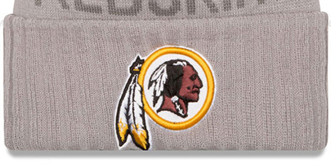 Redskins '2015 STADIUM' Grey-Burgundy Knit Beanie Hat by New Era