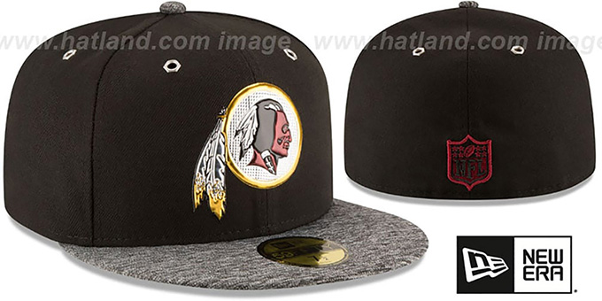 Redskins '2016 MONOCHROME NFL DRAFT' Fitted Hat by New Era