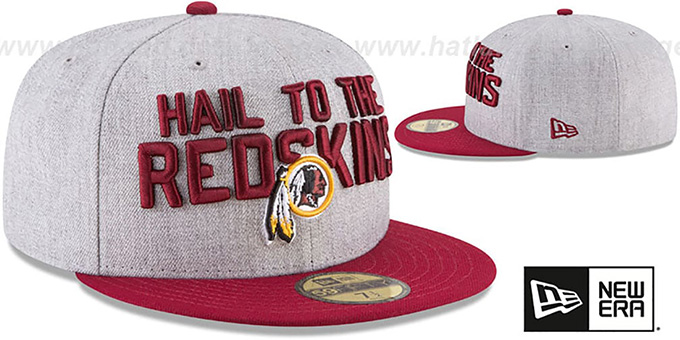 Redskins '2018 ONSTAGE' Grey-Burgundy Fitted Hat by New Era