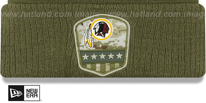 Redskins '2019 SALUTE-TO-SERVICE' Knit Beanie Hat by New Era