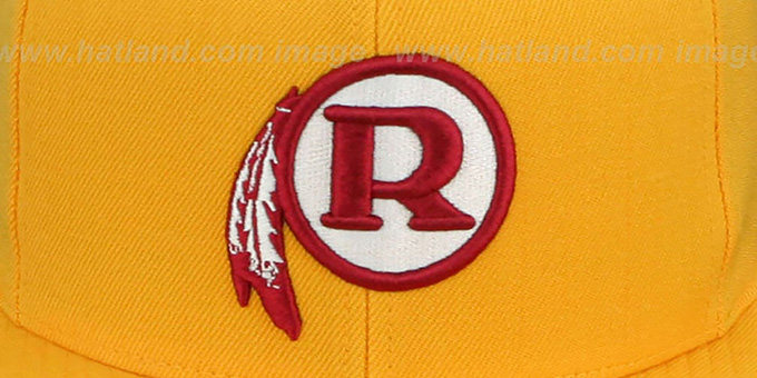 Redskins ALT 'THROWBACK-BASIC SNAPBACK' Gold Hat by Mitchell & Ness