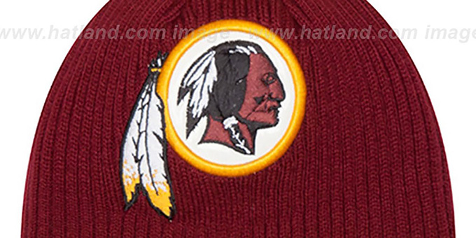 Redskins 'CHILLER FILLER BEANIE' Burgundy-Gold by New Era