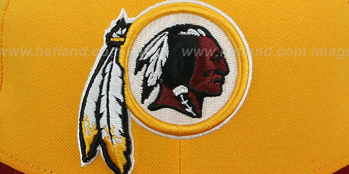 big sale 1c2ce 5adbe ... Redskins  NFL 2T-TEAM-BASIC  Gold-Burgundy Fitted Hat by New ...