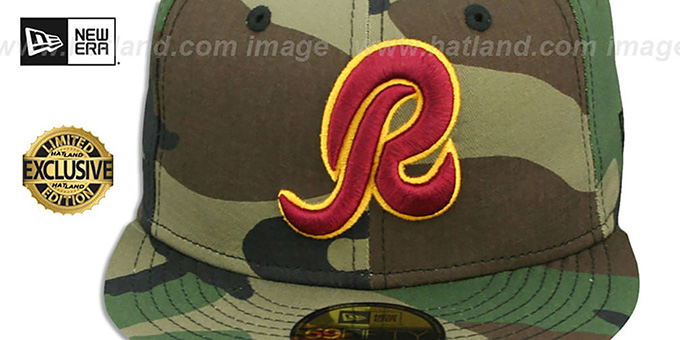 Redskins 'NFL TEAM-BASIC' Army Camo Fitted Hat by New Era