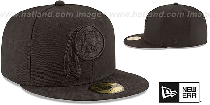 Redskins 'NFL TEAM-BASIC BLACKOUT' Fitted Hat by New Era