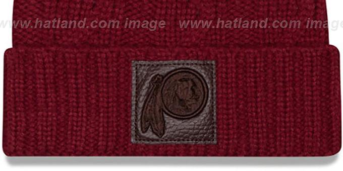 new concept 00ed3 be87c ... Redskins  OHANA  Burgundy Knit Beanie Hat by New Era ...