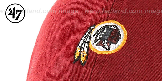 Redskins 'POLO STRAPBACK' Burgundy Hat by Twins 47 Brand