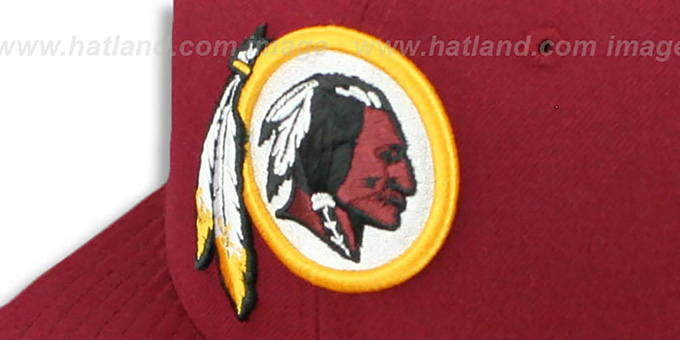 ... Redskins  SUPER BOWL XVII  Burgundy Fitted Hat by New Era ... 660586444