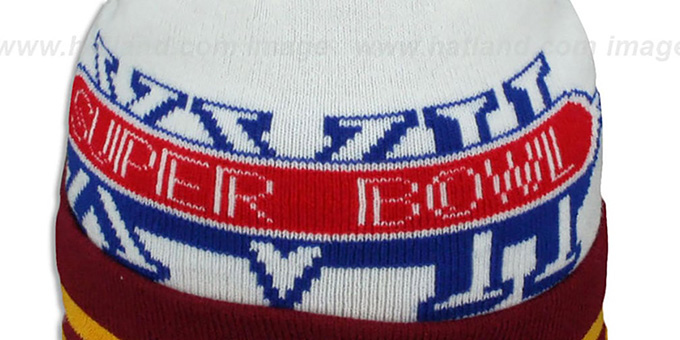 Redskins 'SUPER BOWL XVII' White Knit Beanie Hat by New Era