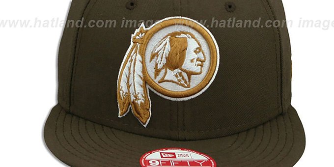 Redskins 'TEAM-BASIC SNAPBACK' Brown-Wheat Hat by New Era