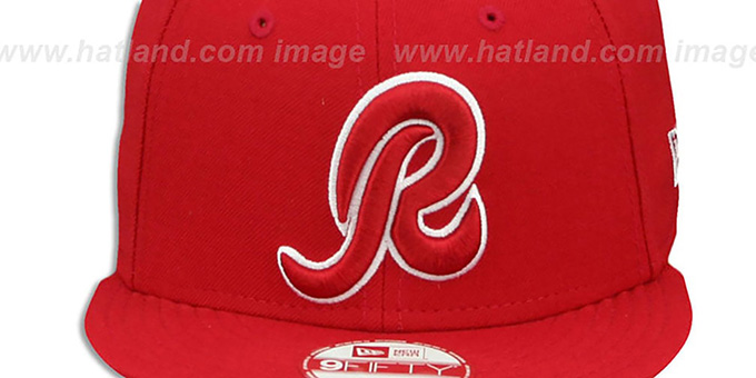 finest selection b0ec2 58841 ... Redskins  R TEAM-BASIC SNAPBACK  Red-White Hat by New Era ...