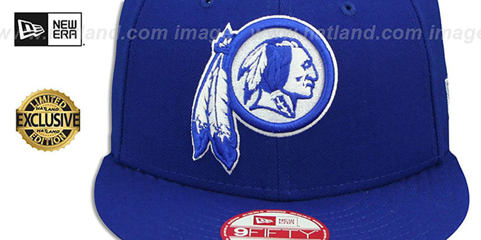 Redskins 'TEAM-BASIC SNAPBACK' Royal-White Hat by New Era