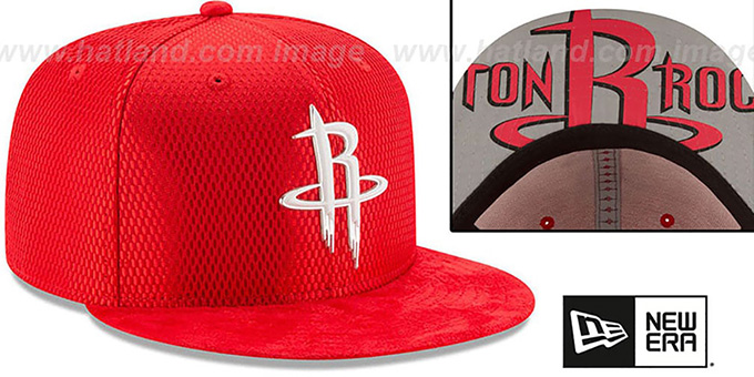 Rockets '2017 ONCOURT DRAFT' Red Fitted Hat by New Era