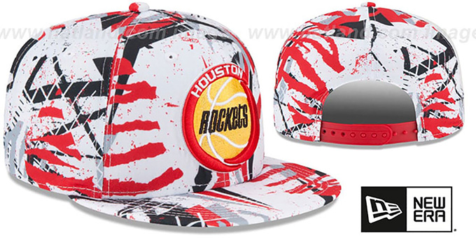 Rockets 'GEOMET TRICK SNAPBACK' Hat by New Era