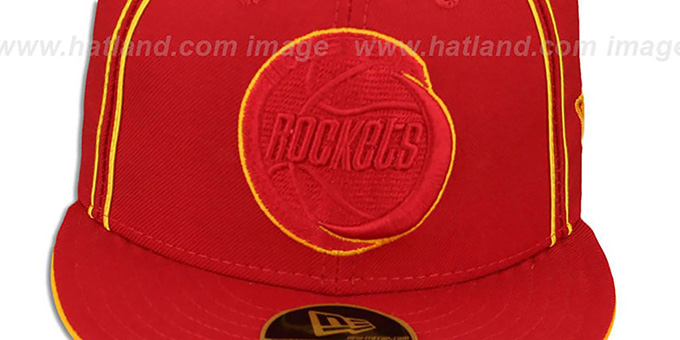 Rockets 'HWC CHALKLINE' Red-Red Fitted Hat by New Era