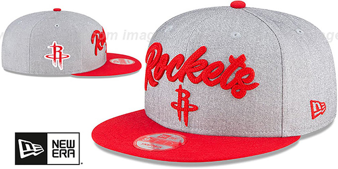 Rockets 'ROPE STITCH DRAFT SNAPBACK' Grey-Red Hat by New Era