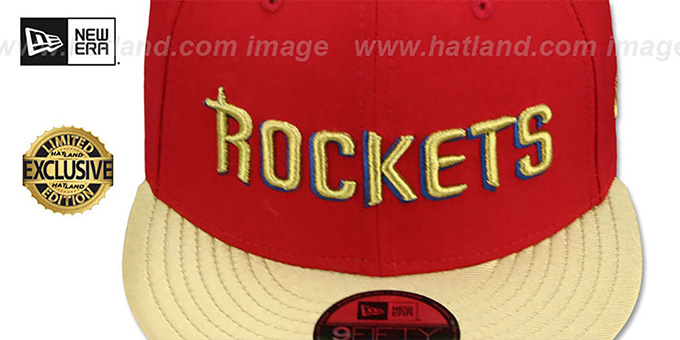 Rockets 'SWINGMAN SNAPBACK' Red-Gold Hat by New Era