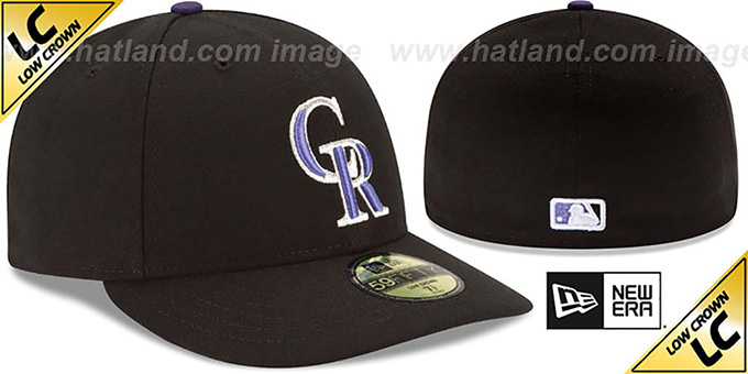 online store 079d0 cc6a0 Colorado Rockies LOW-CROWN GAME Fitted Hat by New Era