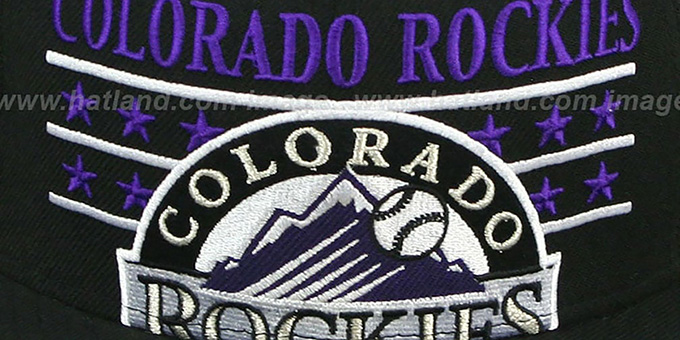 Rockies 'STAR STUDDED' Black Fitted Hat by New Era