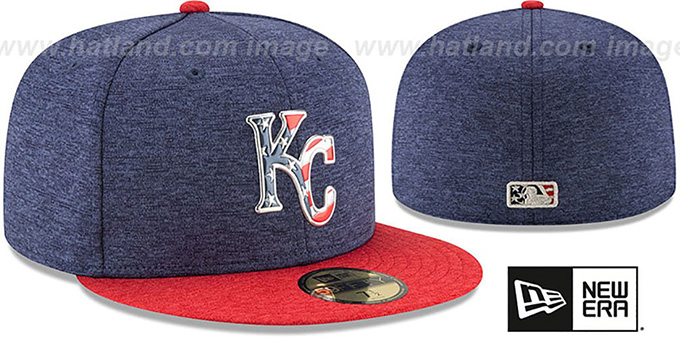 Royals '2017 JULY 4TH STARS N STRIPES' Fitted Hat by New Era