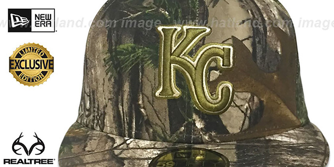 Royals 'MLB TEAM-BASIC' Realtree Camo Fitted Hat by New Era
