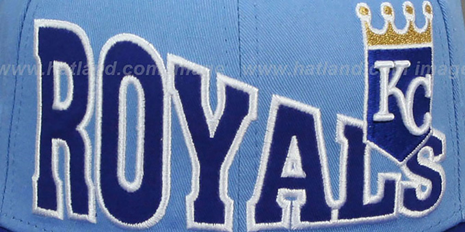 Royals 'STOKED SNAPBACK' Sky-Royal Hat by New Era