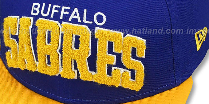 lowest price 0f9c7 c4aff ... Sabres  CHENILLE-ARCH SNAPBACK  Royal-Gold Hat by New Era ...