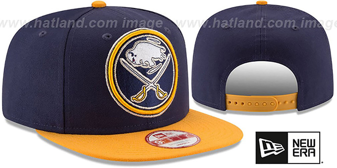 Sabres 'LOGO GRAND REDUX SNAPBACK' Navy-Gold Hat by New Era