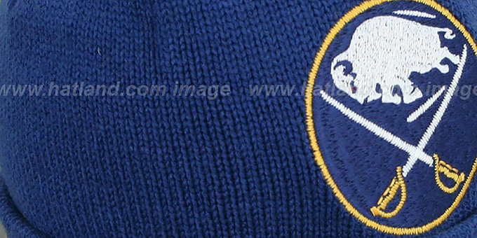 Sabres 'XL-LOGO BEANIE' Navy by Mitchell and Ness