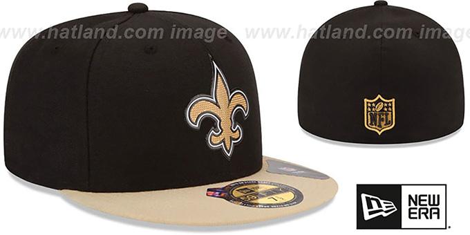 hot sales d62ed d647b ... Saints  2015 NFL DRAFT  Black-Gold Fitted Hat by New Era ...
