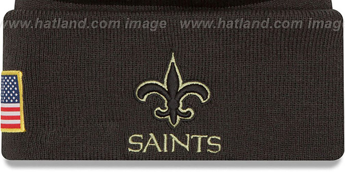 Saints '2016 SALUTE-TO-SERVICE' Knit Beanie Hat by New Era