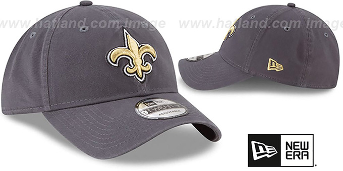 Saints 'CORE-CLASSIC STRAPBACK' Charcoal Hat by New Era